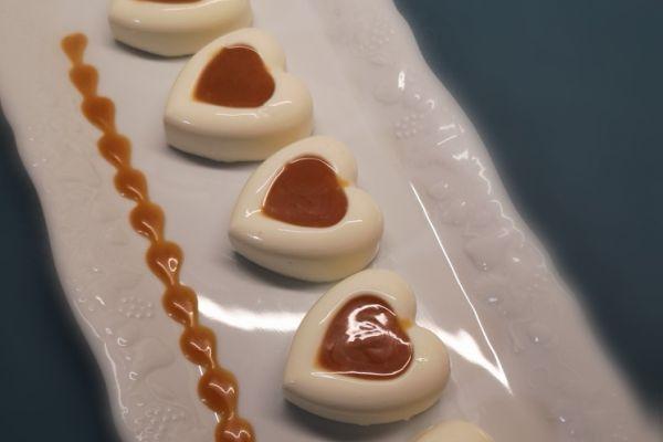 Panna cotta, sauce caramel au beurre salé